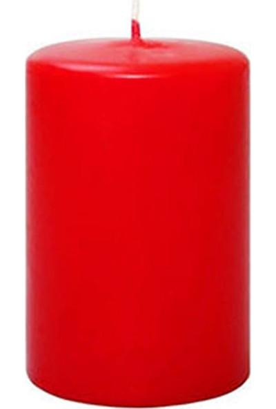 Kullan At Market Kütük Mum Kırmızı 6 cm x 10 cm