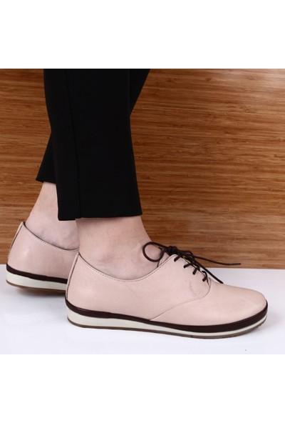 Dgn 6005 Bayan Bağcıklı Casual Ayakkabı Prs185 Int-69.99 Pudra