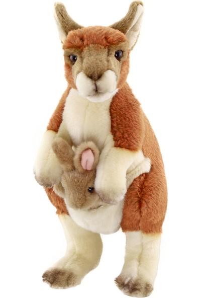 Animals Of The World Ayakta Bebekli Kanguru Peluş Oyuncak 28 cm