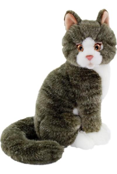 Animals Of The World Oturan Gri Kedi Peluş Oyuncak 22 cm