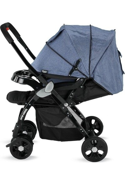 Babyhope BH-3055 Süper Grand Çift Yönlü Bebek Arabası Füme