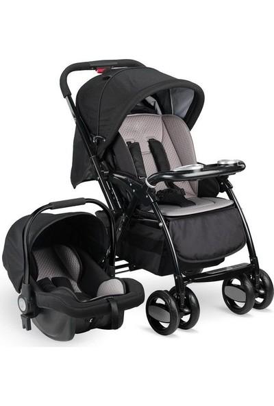 Babyhope BH-3089 Neon Plus Travel Sistem Bebek Arabası Füme