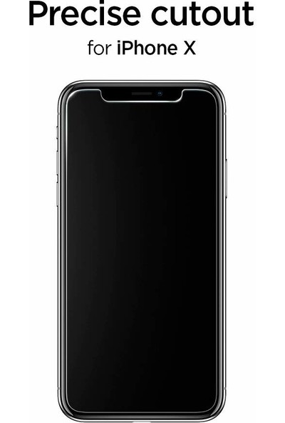 Spigen Apple iPhone 11 Pro / iPhone XS / iPhone X Cam Ekran Koruyucu GLAS.tR SLIM - 063GL24514