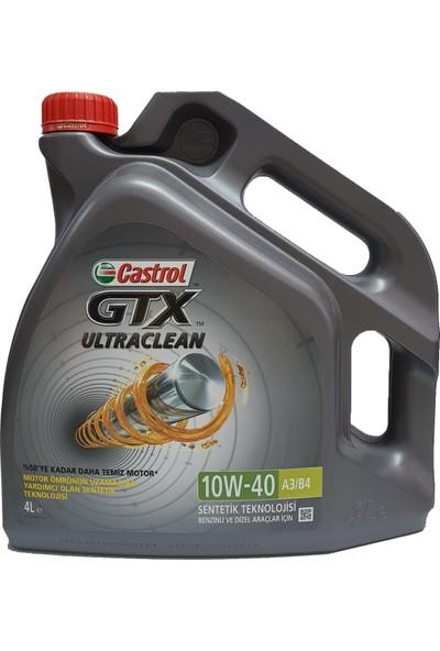 Castrol GTX 10w40 - A3/B4 - 4 Lt - Benzinli Dizel Motor Yağı (Üretim yılı :2019)