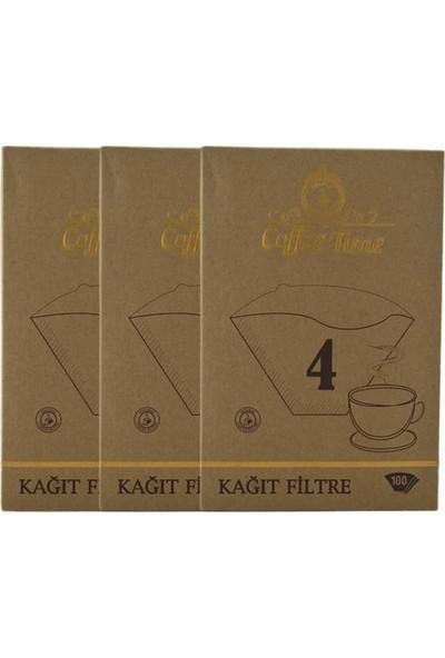 Coffee Time 1X4 Kahve Filtre Kağıdı 100X3 Toplamda 300 Adet