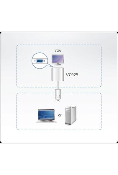 Aten Vc925-At Displayport To Vga Adaptör