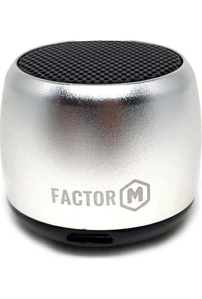 Factor-M Mini Kablosuz Hoparlör-Gümüş