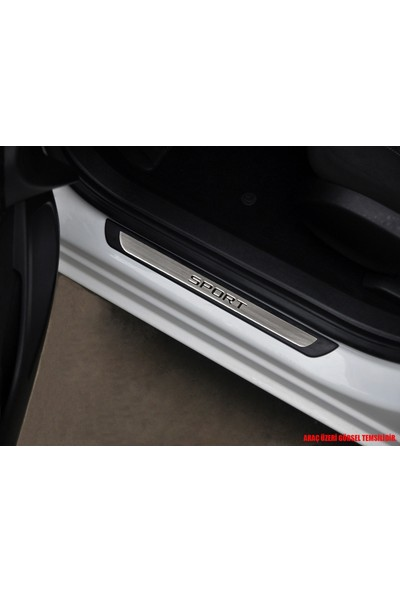 S-Dizayn S-Dizayn Opel Astra J Krom Kapı Eşik Koruması Sport Line 2012-2016 4 Parça