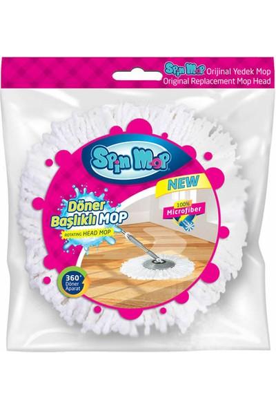 Spin Mop Döner Başlıklı Temizlik Seti Yedek Mop