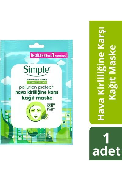 Simple Hava Kirliliğine Karşı Kağıt Maske 1 Adet
