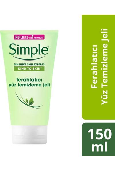 Simple Kind To Skin Hassas Ciltlere Uygun Sert Kimyasal İçermeyen Ferahlatıcı Yüz Temizleme Jeli 150 ML