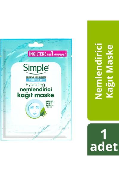 Simple Water Boost Kuru/Nemsiz Ciltler İçin Nemlendirici Kağıt Maske 21 Ml