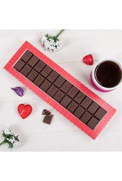Hediye Sepeti Kişiye Özel Mesajlı Harf Çikolata