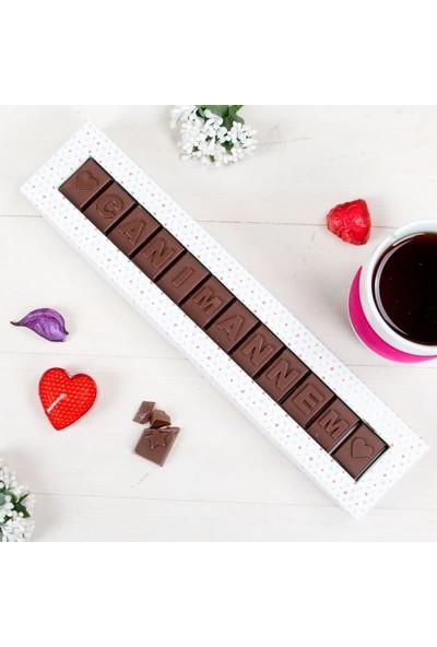Hediye Sepeti Canım Annem Yazılı Harf Çikolata