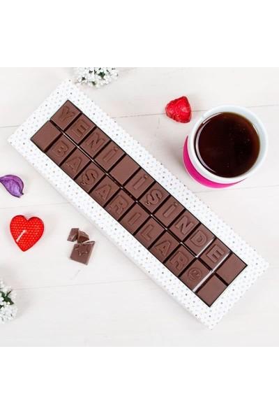 Hediye Sepeti Yeni İşinde Başarılar Mesajlı Harf Çikolata