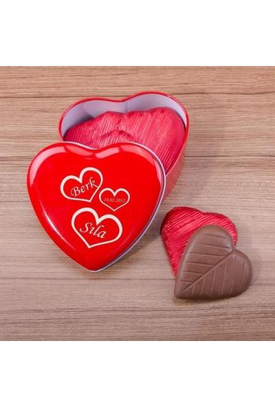 Hediye Sepeti Sevgiliye Özel Tarihli Çikolata Kutusu