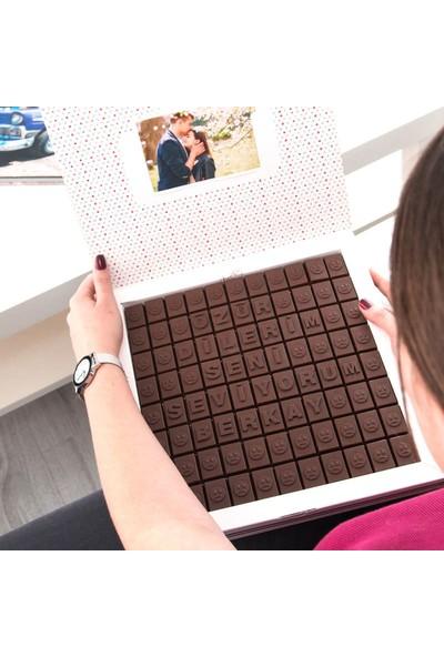 Hediye Sepeti Özür Dilerim Mesajı Yazılı 88 Harf Çikolata