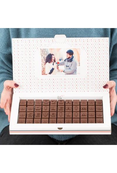 Hediye Sepeti Özür Dilerim Yazılı Harf Çikolata