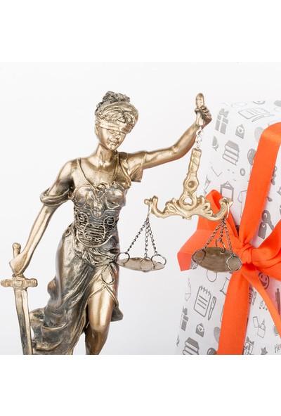 Hediye Sepeti Saatli Adalet Tanrıçası Themis Heykeli