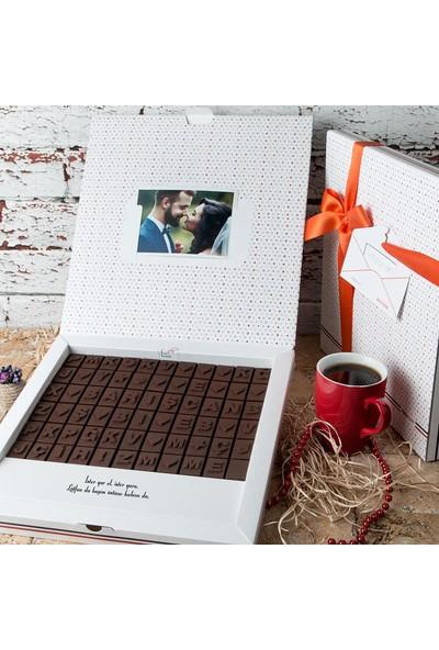 Hediye Sepeti Puzzle İsim Yazılı Harf Çikolata