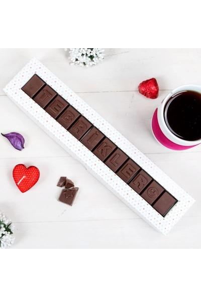 Hediye Sepeti Tebrikler Mesajlı Harf Çikolata