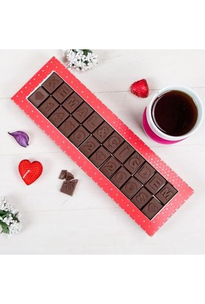 Hediye Sepeti Sevgiliye Yıldönümü Hediyesi Harf Çikolata