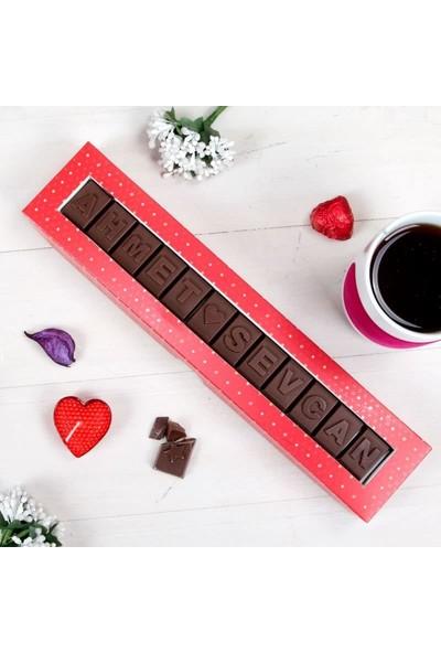 Hediye Sepeti Kişiye Özel İsim Yazılı Harf Çikolata