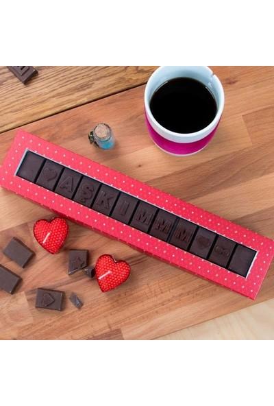 Hediye Sepeti Sevgiliye Hediye AŞKIMMM Yazılı Harf Çikolata
