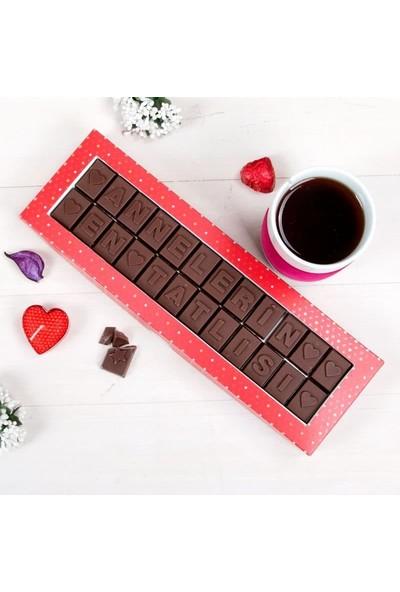 Hediye Sepeti Annelerin En Tatlısı Yazılı Harf Çikolata