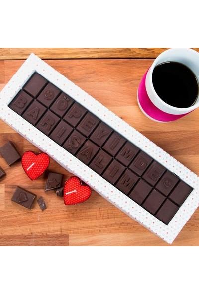 Hediye Sepeti Öpeyimde Barışalım Mesajlı Harf Çikolata