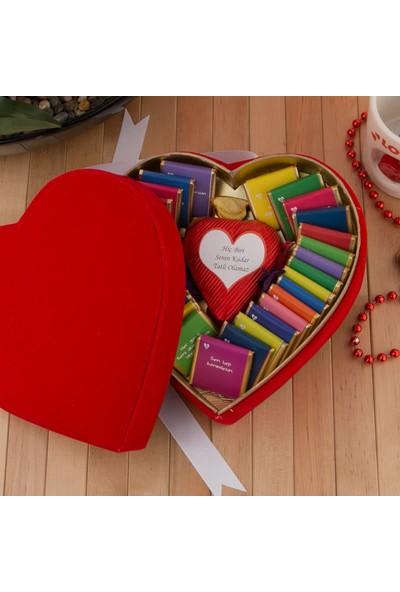 Hediye Sepeti Kalp Kutulu Seni Sevmemin 32 Sebebi Çikolata