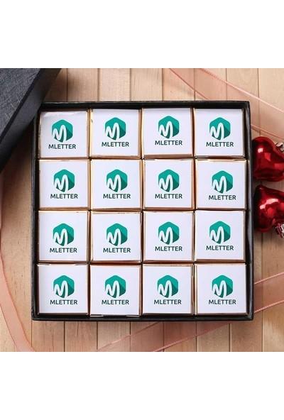 Hediye Sepeti Küçük Logo Baskılı Hediye Kutulu Çikolata