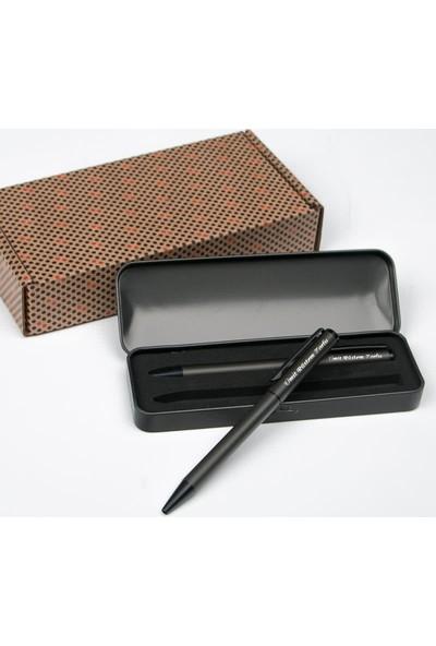 Hediye Sepeti İsme Özel Şık Metal Kutulu İkili Kalem Seti