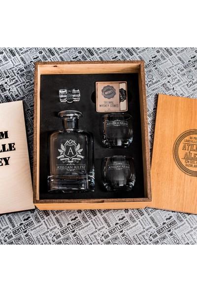 Hediye Sepeti Aile İsmine Özel Louisville Viski Seti