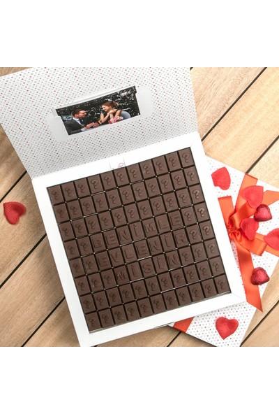 Hediye Sepeti Evlilik Teklifi Mesajlı Harf Çikolata