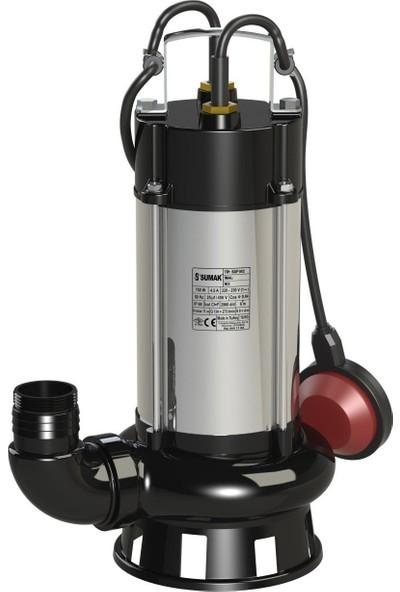 Sumak Sdf 14/2 Paslanmaz Gövdeli Foseptik Dalgıç Pompa Monofaze (220 V) 1.5 Hp