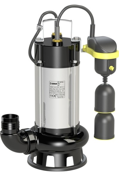 Sumak Sdf 18/2-A Asansör Flatörlü Foseptik Dalgıç Pompa 220 Volt 1.8 Hp
