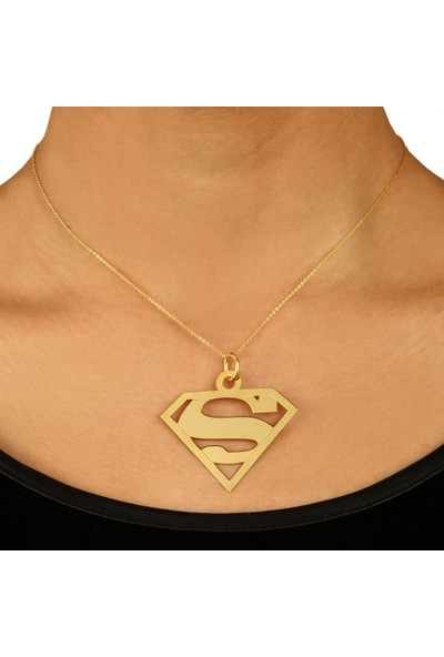 "De Hari's Diamond ""Süperman"" Harf Kolyesi"
