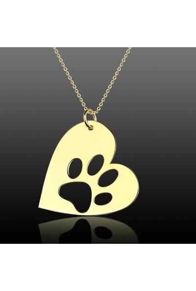 De Hari's Diamond Kalp İçinde Köpeğimin Ayakları Aile Sevgi Kolyesi