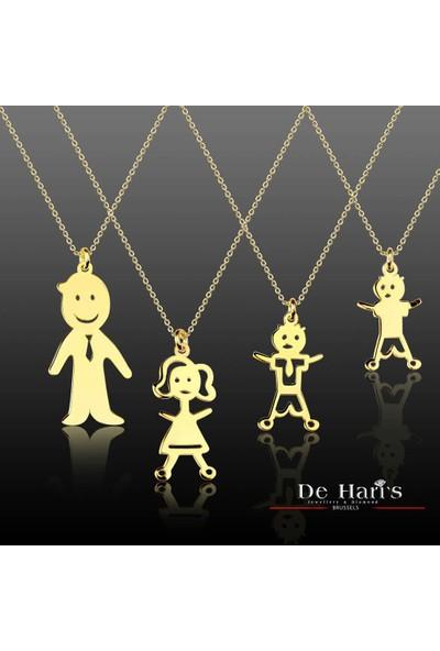 De Hari's Diamond Erkek Çocuk İsim Yazılı Sevgi Kolyesi