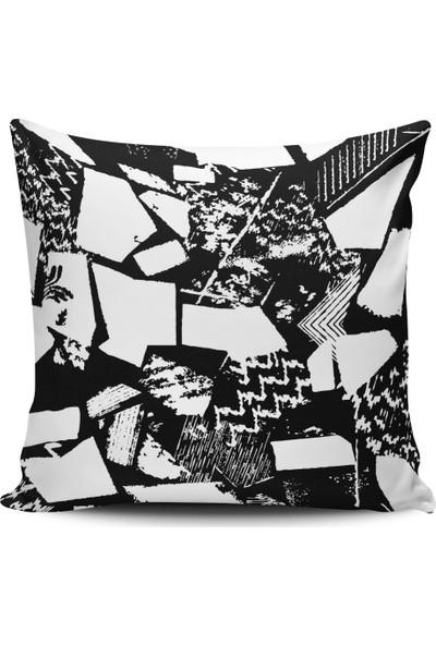 Alaca Geometrik Desenli Konsept Modern Tasarım Kırlent Yastık