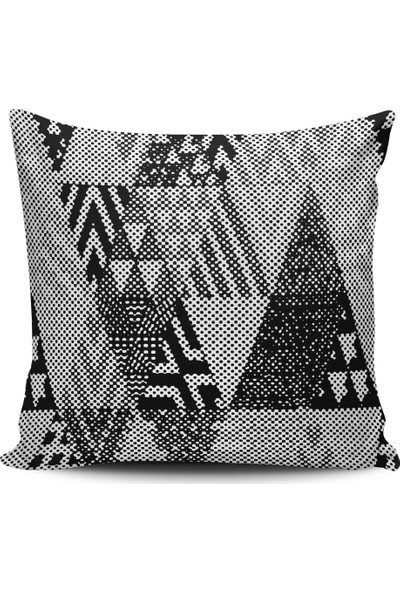 Alaca Geometrik Desenli Modern Tasarım Kırlent Yastık