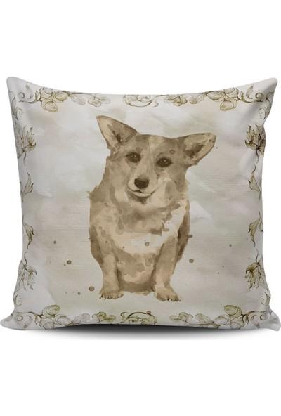 Alaca Köpek Temalı Modern Konsept Tasarım Kırlent Yastık