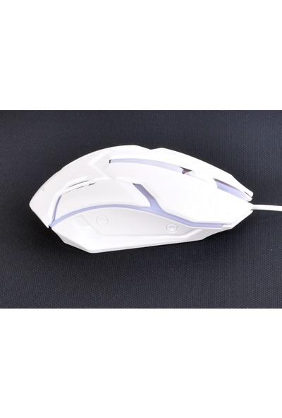 Zoomex KM-100 Gaming Işıklı Beyaz USB Oyuncu Mouse
