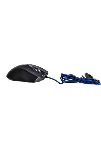 Zoomex KM-110 Gaming Işıklı Siyah USB Oyuncu Mouse