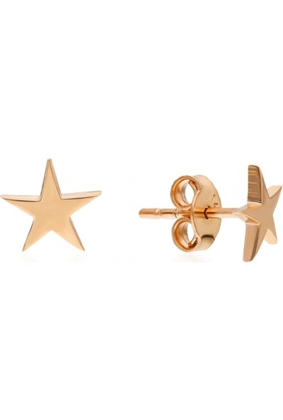 Pink Gold Store Stella Yıldız Küpe Ta2267 Pembe Altın