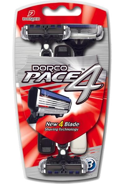 Dorco Pace 4 Kullan-At Tıraş Bıçağı (3'lü)