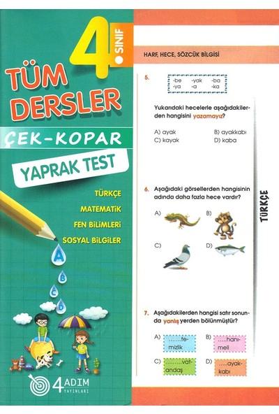 4 Adım 4. Sınıf Tüm Dersler Çek Kopar Yaprak Test