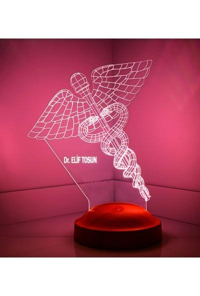 Tıp Sembollü Doktor Üç Boyutlu LED Lamba