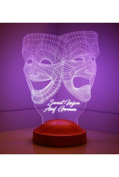 Sevgi Lambası Kişiye Özel 3 Boyutlu Maske LED Lamba